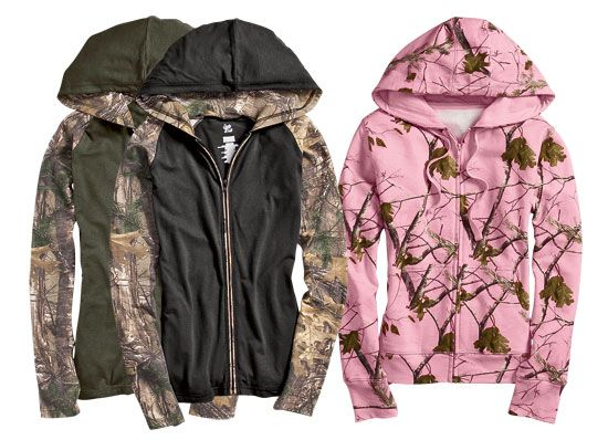 This just in- new camo zip ups! < OMG, love the one in the middle!!!