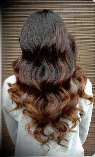 A subtle Ombre for brunettes.