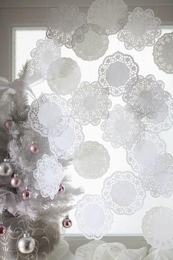 2012クリスマス・1 レースのペーパードイリーでホワイトクリスマス : 窪田千紘フォトスタイリングWebマガジン「Klastyling」