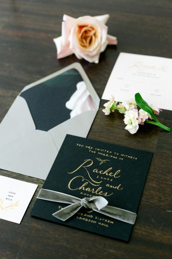113 best Black Gold and White Wedding Invitations images on ...
