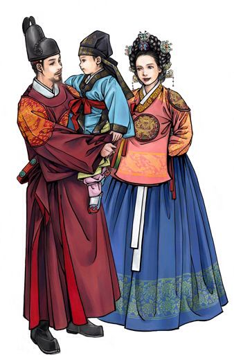 Korean king, queen and prince