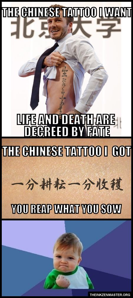 THE CHINESE TATTOO I GOT http://theinkzenmaster.org/?p=2225 #chinese #tattoo #ink #artist #humor #funny #lol #meme #design #translate #picture #photo