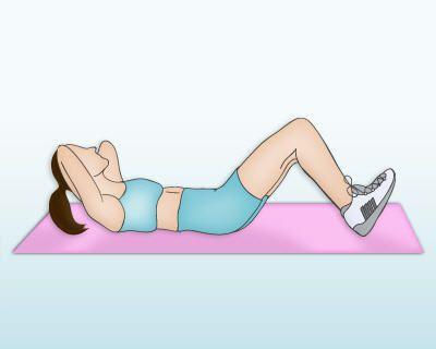 Exercice ventre plat : le relevé du buste