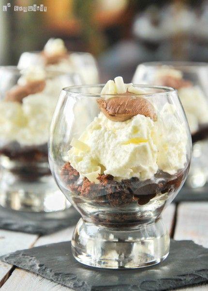 Vasito de tres chocolates con nata - L'Exquisit