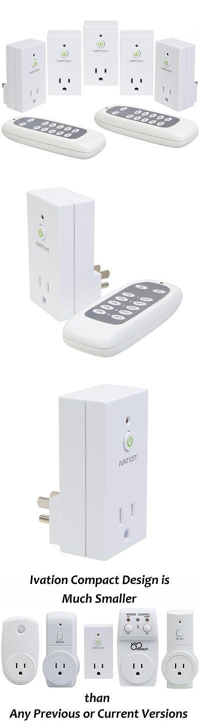 Controls and Touchscreens: Gear Programmable Wireless Remote Control 110V Consumer Electronic Outlet Switch BUY IT NOW ONLY: $34.45