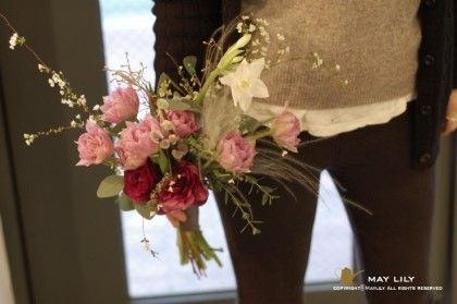 "ILSAN ""maylily flower & pottery""shop  I made a natural bouquet 일산플라워레슨-메이릴리 튤립에빠져있는 메이릴리."