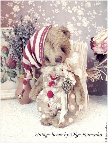 Мишки Тедди ручной работы. Ярмарка Мастеров - ручная работа Мишка Буратинка. Handmade.