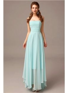 Stylish Mint Green A-line Sexy Backless Ankle Length Formal Bridesmaid Gowns for Junior