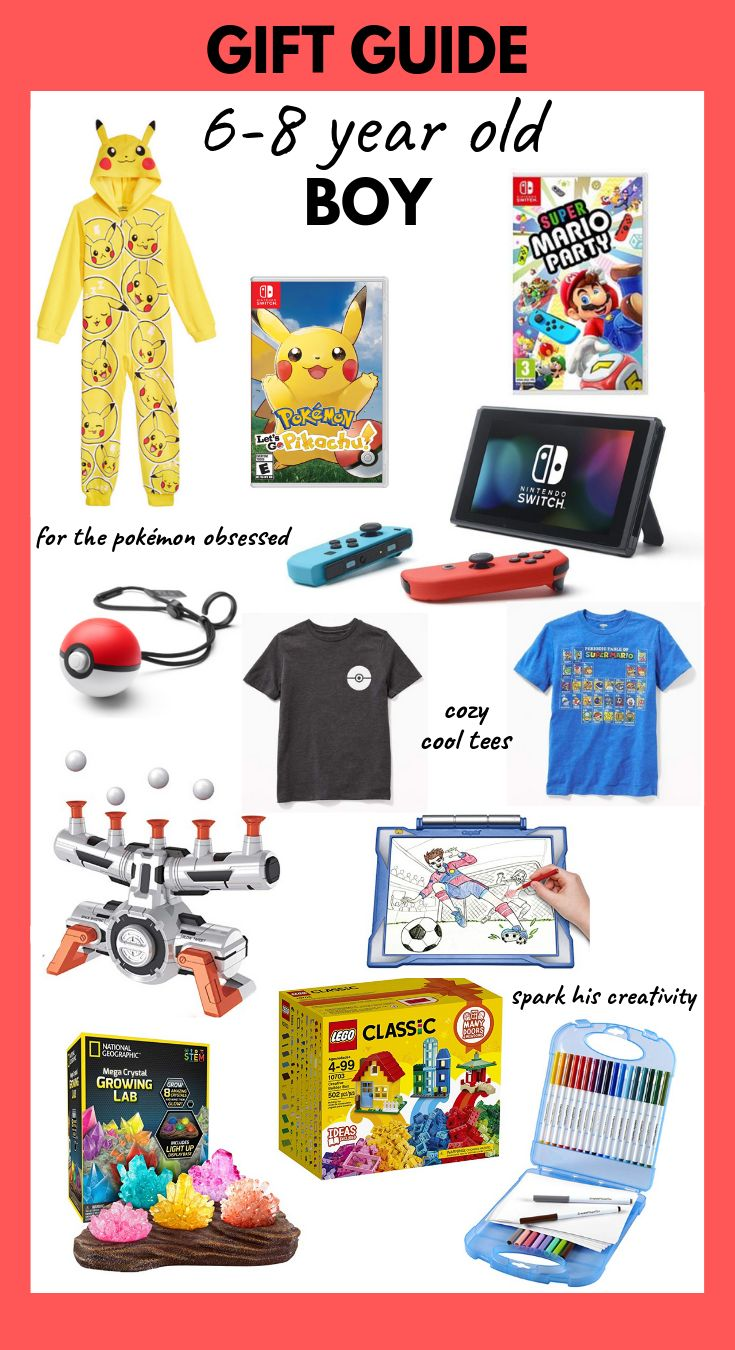 Gift Guide for 6-8 Year Old Boys. | 8 year old boy, 6 year ...