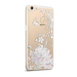 Silicone Case OPPO A59 Flower Illustration