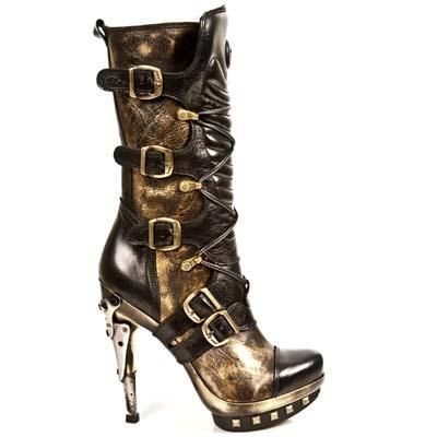 New Rock Boots - 001 - Steampunk Stiletto Heel Boots