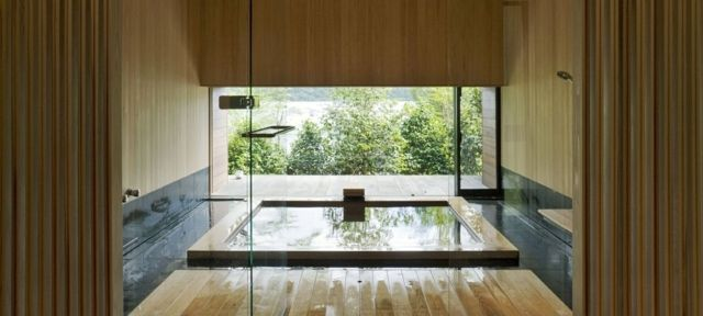 Comment concevoir une salle de bain japonaise avec - Concevoir salle de bain ...