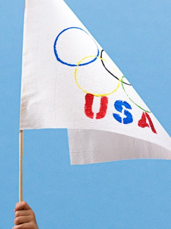 A fun and simple way to make your own Olympics flag.