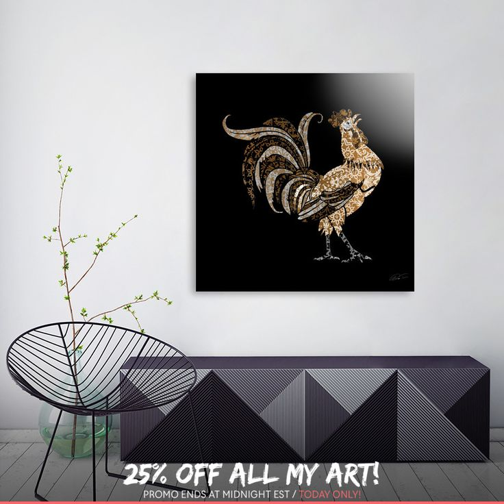 Discover «Le Coq Gaulois  (The Gallic Rooster)», Limited Edition Aluminum Print by Diego Taborda - From $99 - Curioos