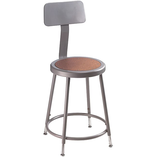 NPS Adjustable-height Stool with Backrest and Steel Gauge Tubing - Overstock Shopping - The  sc 1 st  Pinterest & 22 best Workshop images on Pinterest | Workshop Kitchen ideas and ... islam-shia.org