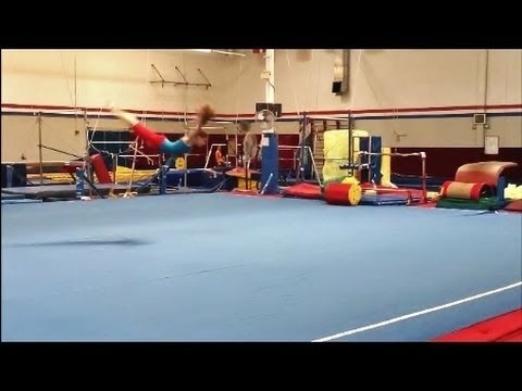 How To Do A Swan Dive Roll With Coach Meggin (Professional Gymnastics Coach)