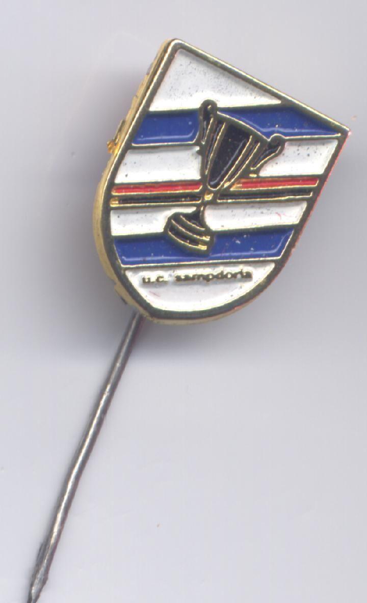 distintivo calcio ufficiale U.C. SAMPDORIA COPPA DELLE COPPE 1990 it.picclick.com