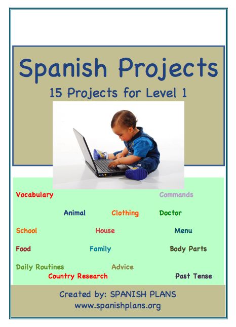 15 great projects for Spanish 1 Class