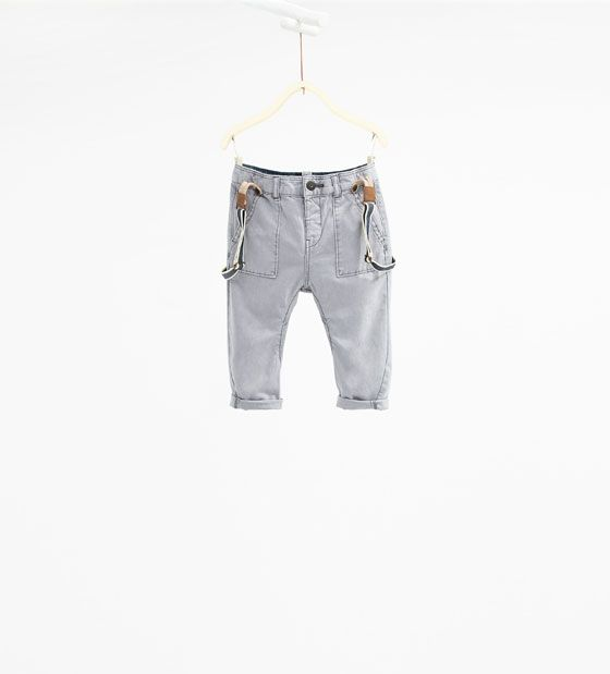 Twill trousers with braces