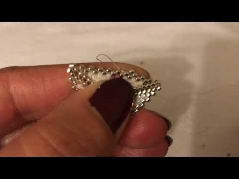 peyote tekniği ile muska kolye yapımı part1 - YouTube