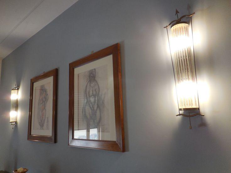 Murano glass lights_light blue wall_Maria Riemma Architect