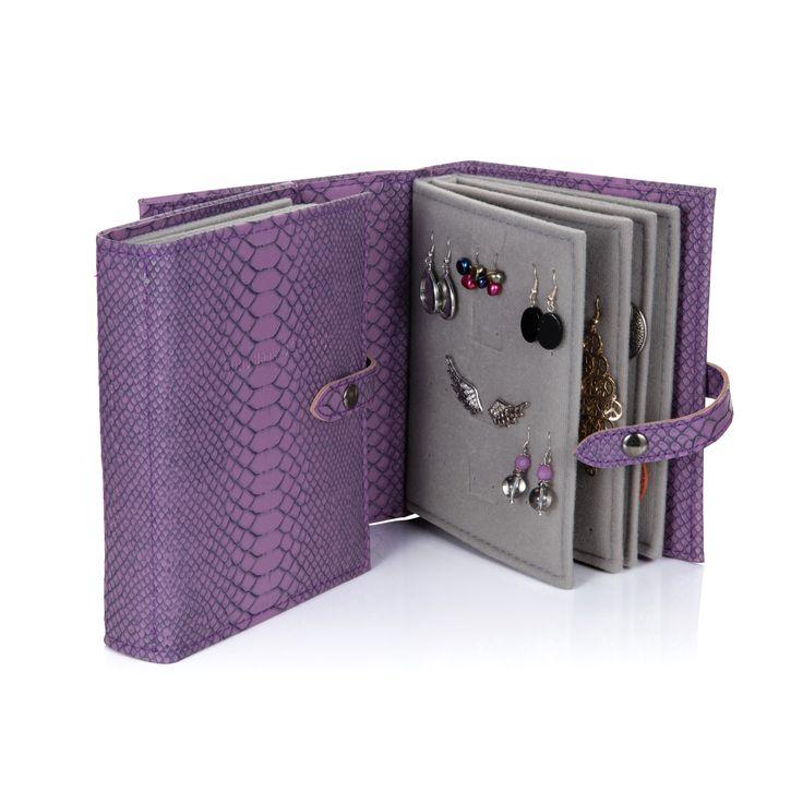 Little Book of Earrings - Purple Croc