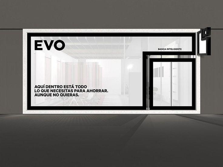 Bank identity black and white. Saffron Brand Consultants   - Work - Evo