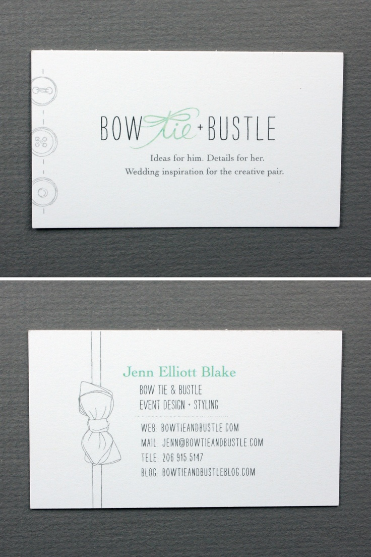 51 best business card inspiration images on pinterest business biz card inspiration bow tie bustle jenn elliott blake boetieandbustle cool business magicingreecefo Image collections