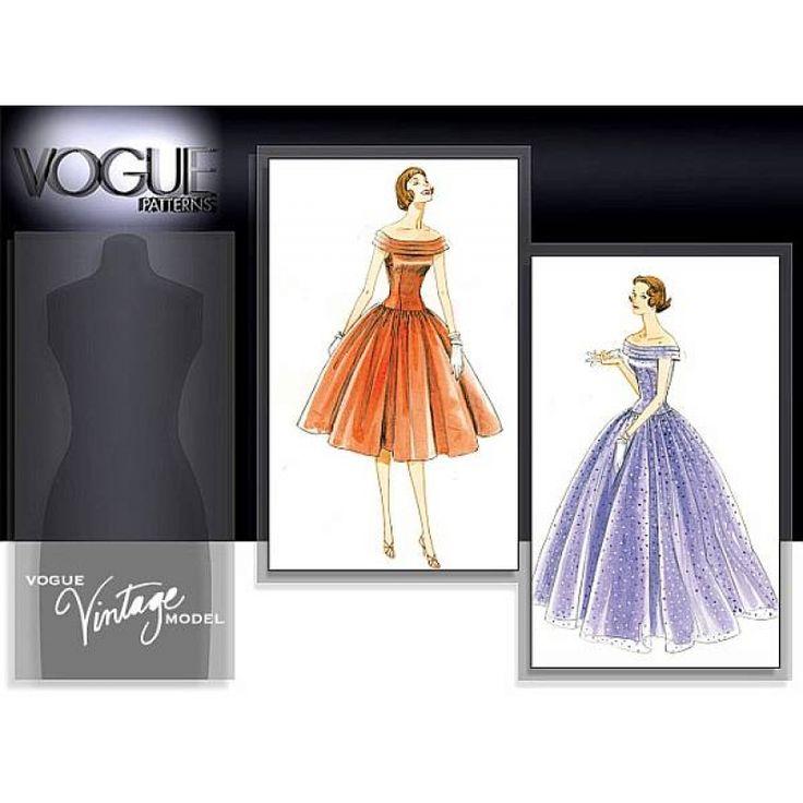 englisches Schnittmuster Vogue 1094 Abendkleid