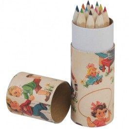 kleurpotloden set - retro dotcomgiftshop | ilovespeelgoed.nl