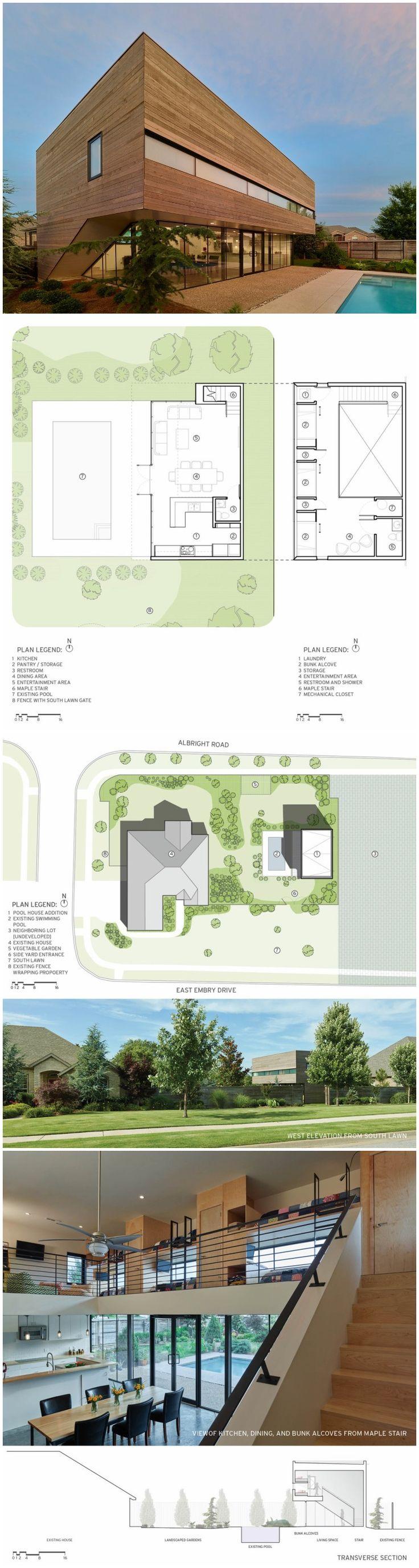 26 best small narrow plot house plans images on pinterest srygley pool house marlon blackwell architect