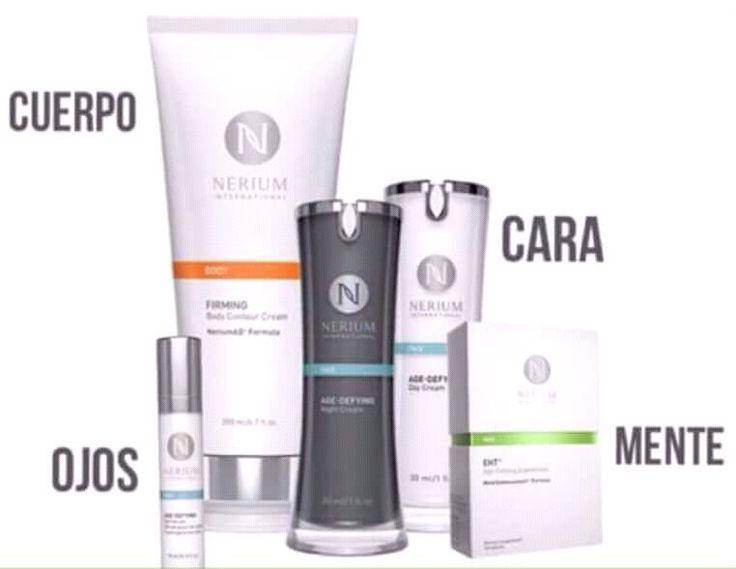 Nerium son tratamientos Anti-Edad para rostro, ojos, cuerpo y mente.  !Pensó en todo! http://beautyskin1.nerium.com.mx