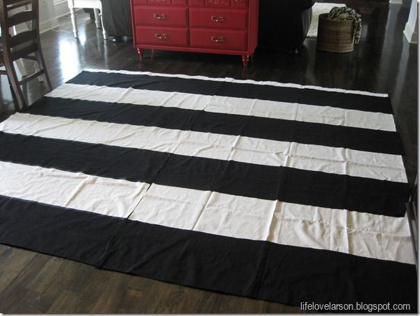 Diy Black And White Horizontal Striped Curtains Curtain