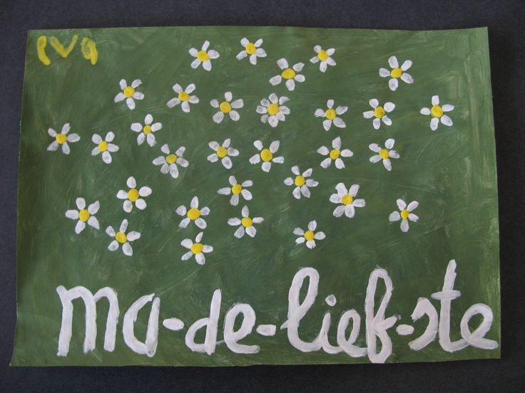 Moederdag knutselen: leuk Ma-de-liefste knutsel idee