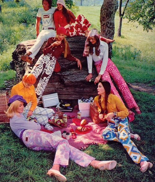 A fashionable 1970s picnic~~