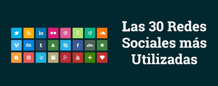 Enlaces a las 30 Redes Sociales más utilizadas
