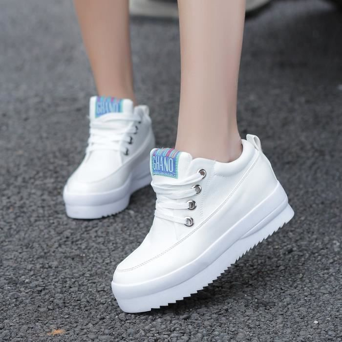 Punk Womens plate-forme mode baskets Skate Tennis toile chaussures ...