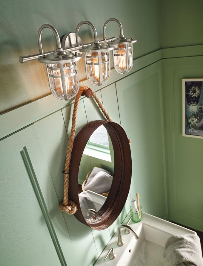 Cool Bathroom Ceiling Light In Nautical Style