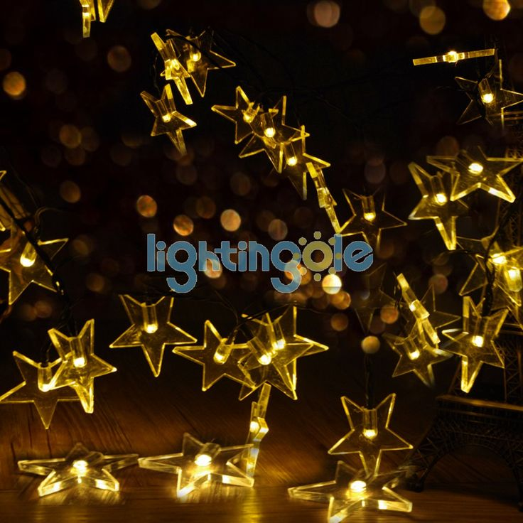 Outdoor Solar String Lights 20 Warm White Star For Garden Patio Lawn Christmas Party Fence Window - Decoration String lights - LED String - Strips and Strings - Lightingole.com
