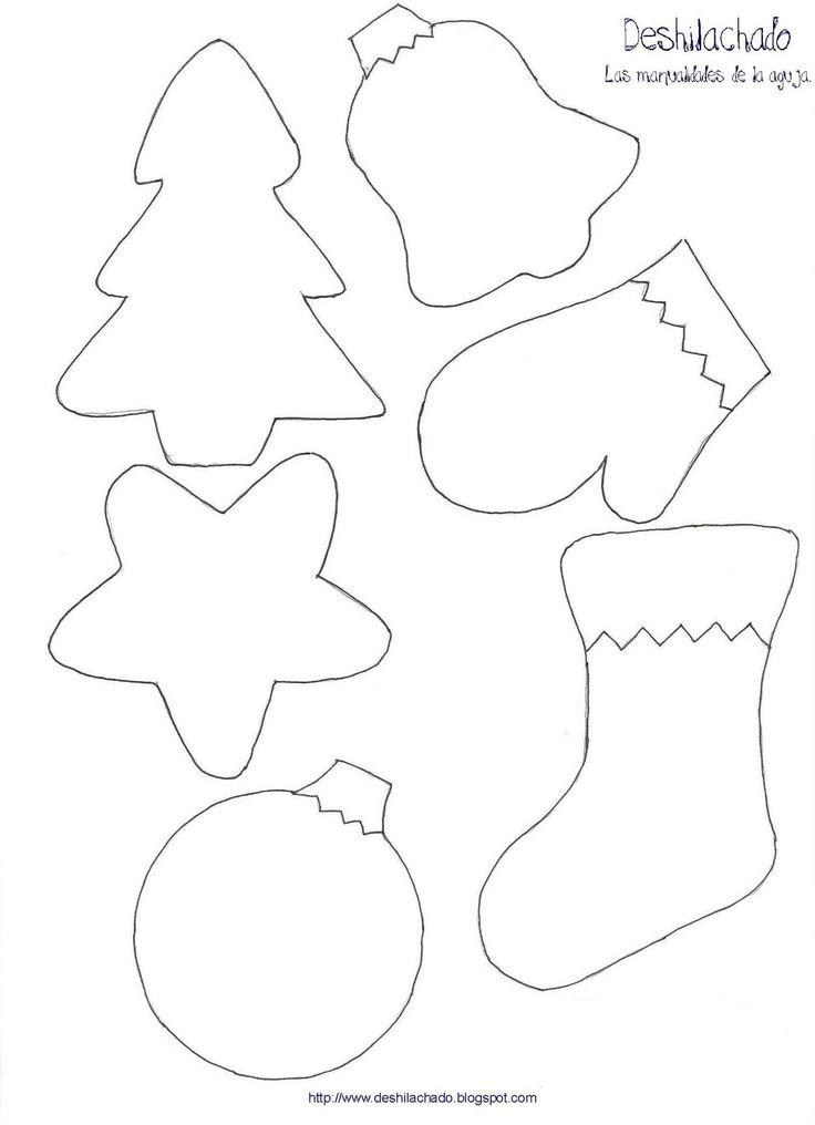 Deshilachado: Tutorial: adornos navideños para el árbol / Tutorial: Christmas tree ornaments