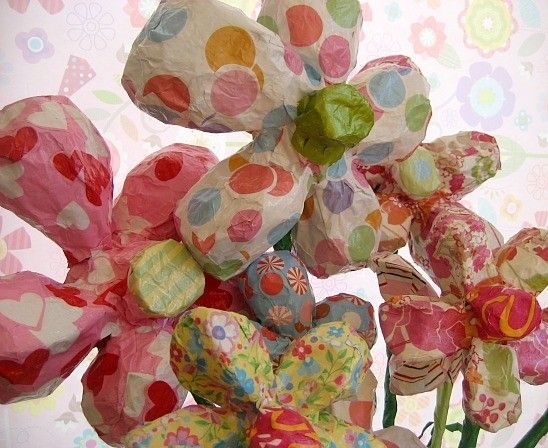 paper mache flowers made to order