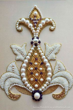 Goldwork & Pearl embroidery: