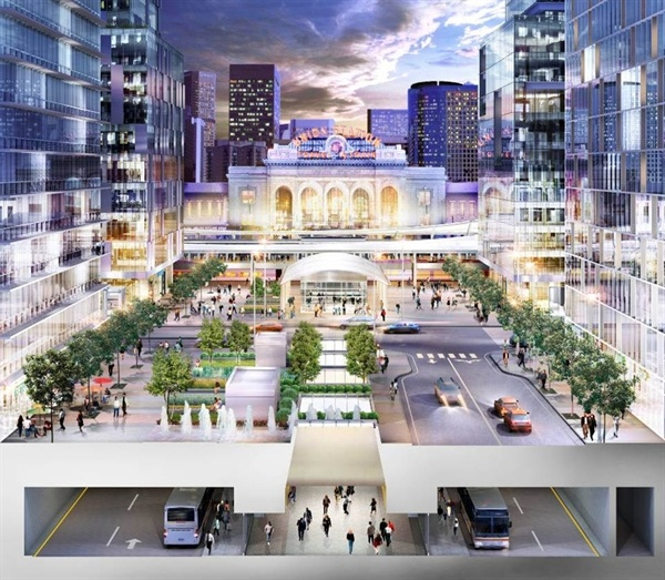 Transit oriented development - Wouldn't it be nicer to put transit above ground and cars underground?