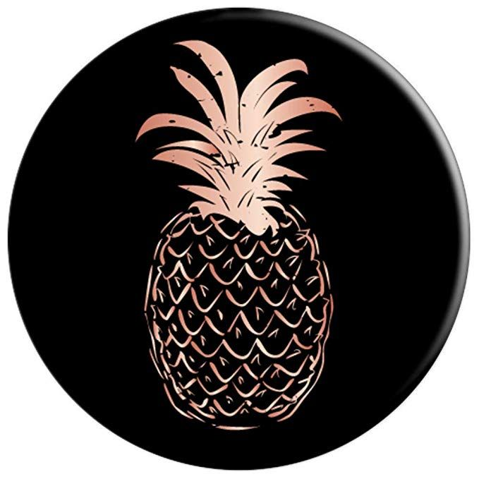 Rose Pineapple White PopSockets PopGrip Swappable Grip for Phones ...