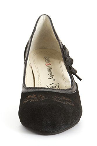 Ludwig und Therese Trachten Schuhe Graziella schwarz D500036 - http://on-line-kaufen.de/spieth-wensky/ludwig-und-therese-trachten-schuhe-graziella