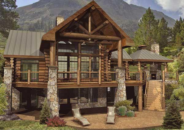 Cheyenne Log Home Floor Plan by Wisconsin Log Homes Square Footage: 2574 Bedrooms: 3 Bathrooms: 2.5