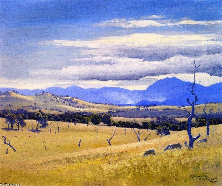 Savana - (1) by Elioth Gruner (1882-1939, New Zealand)