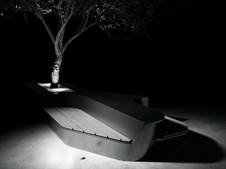 Téléchargez le catalogue et demandez les prix de banc modulable en grc Osa, design Frank Prochiner au fabricant Concrete Urban Design