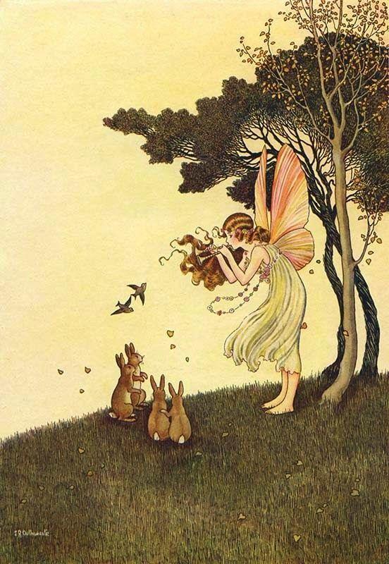 """Ida Rentoul Outhwaite, 1921 """"The Enchanted Forest"""""""
