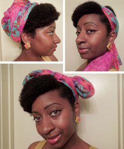 Three easy ways to wear a head wrap that are both stylish and protective! #curlyhair #hairaccessories http://www.naturallycurly.com/curlreading/hairstyles/forget-me-not/head-wraps